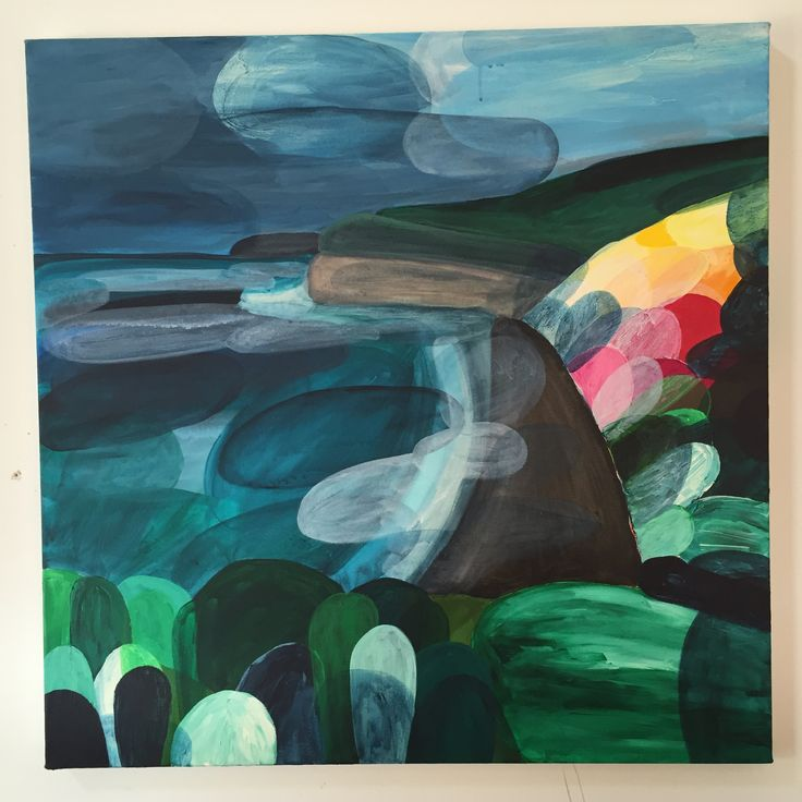 Beautiful Bells Beach, over to Boom Gallery for my up coming exhibition March 13  by Ingrid Daniell  Acrylic on canvas 2015
