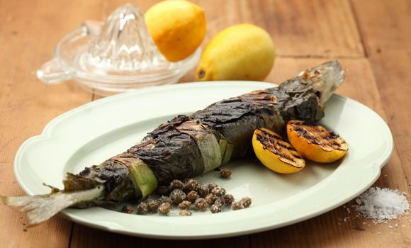 Fish Wrapped in Vine Leaves - Maggie Beer, a Barossa Food Tradition