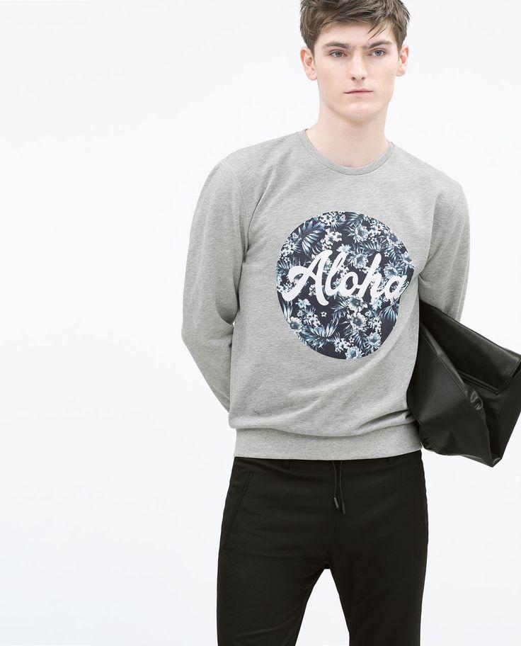 ZARA - Printed sweatshirt