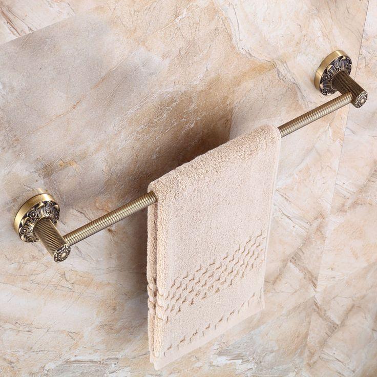 Antique Brass Bathroom Single Towel Bar Wall Mounted   eBay