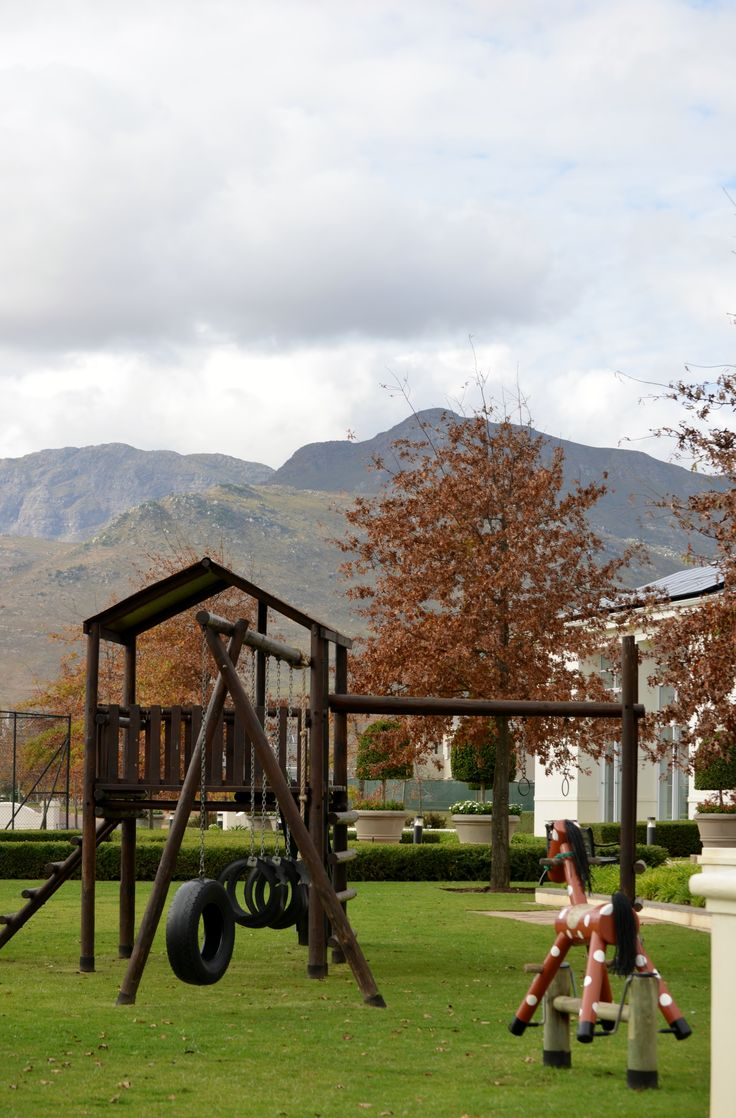Val de Vie Estate between Paarl and Franschoek is ideal for families, as it is not only situated in one of the safer areas in the Cape, but it also has several play parks and picnic areas. #playparks #ValdeVie #estateliving #children #family