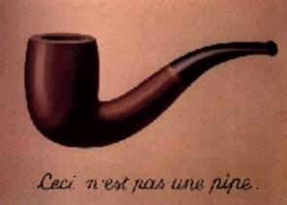 """Magritte// """"Esto no es una pipa"""""""
