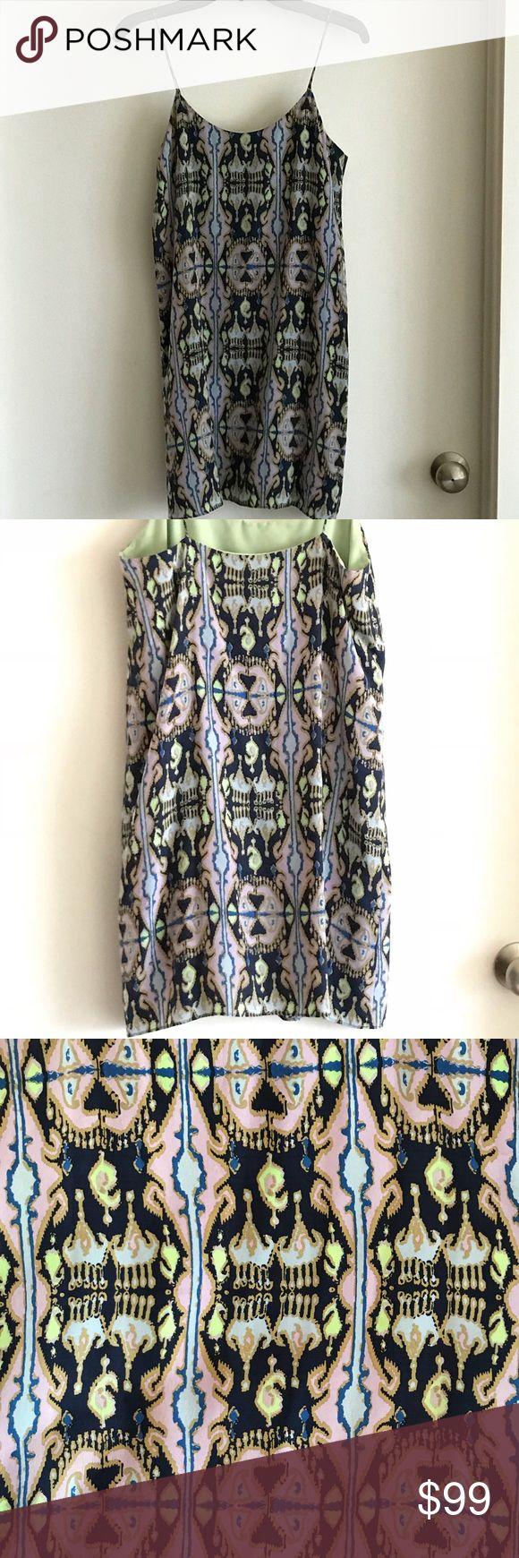 Tibi slip dress Ikat printed 100% silk slip dress. Tibi Dresses Mini