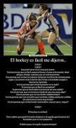 Resultado de imagen para hockey sobre cesped frases
