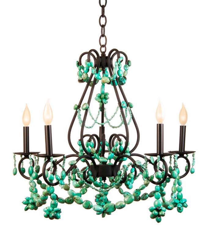 turquoise chandelier by marjorie skouras - Turquoise Chandelier Light