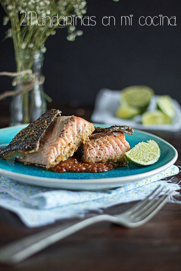 2Mandarinas en mi cocina: Salmón al estilo asiático de Jamie Oliver