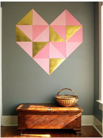 geometric wall heart   #valentinesday
