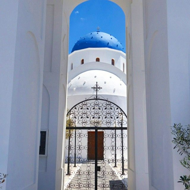 The Church of Kamari, Santorini's largest church