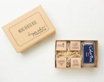 Enseignant Français Gift Set - enseignant Stamp Set - main lettrage et main dessinée série de timbres minis pour les enseignants en stock