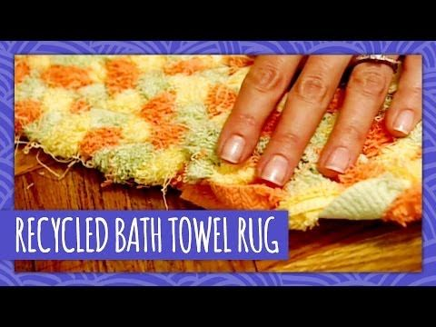 Make This Cute Area Rug From An Old Bath Towel | DIY Cozy Home