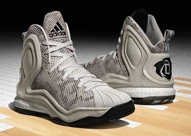 hot sale online eb2e9 65183 ... clearance adidas d rose 5 boost superstar cool grey black d7f04 0a4f7
