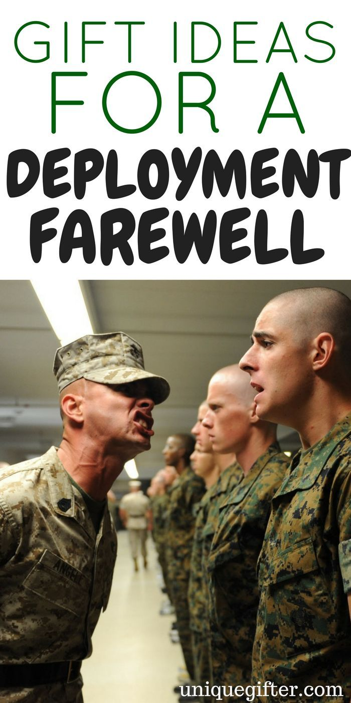 Gift Ideas For A Deployment Farewell