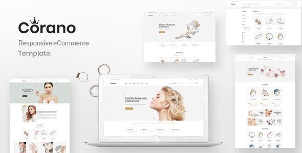 Corano Jewellery Ecommerce Bootstrap 4 Template Stylelib Prestashop Themes Wordpress Theme Responsive Ecommerce Themes
