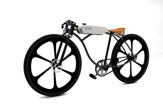 Custom motorized bicycle rolling chassis by imperialcycles