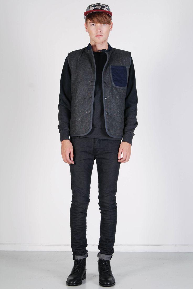 Revolution: Wool Vest Grey - Yokiono www.yokiono.com