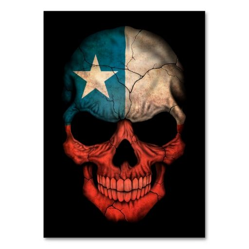Chilean Flag Skull on Black Business Cards. This great business card design is available for customization. All text style, colors, sizes can be modified to fit your needs. Just click the image to learn more!