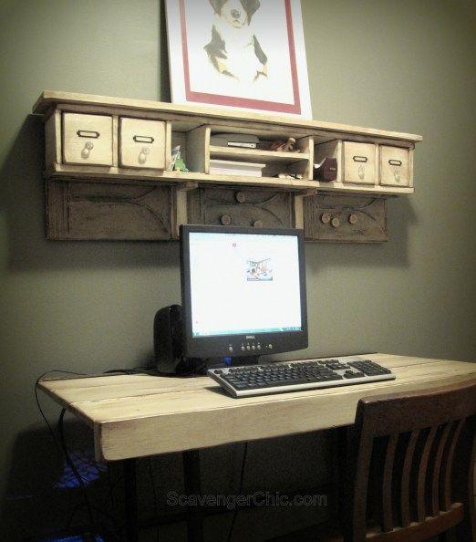 1000 ideas about shelves above desk on pinterest small. Black Bedroom Furniture Sets. Home Design Ideas