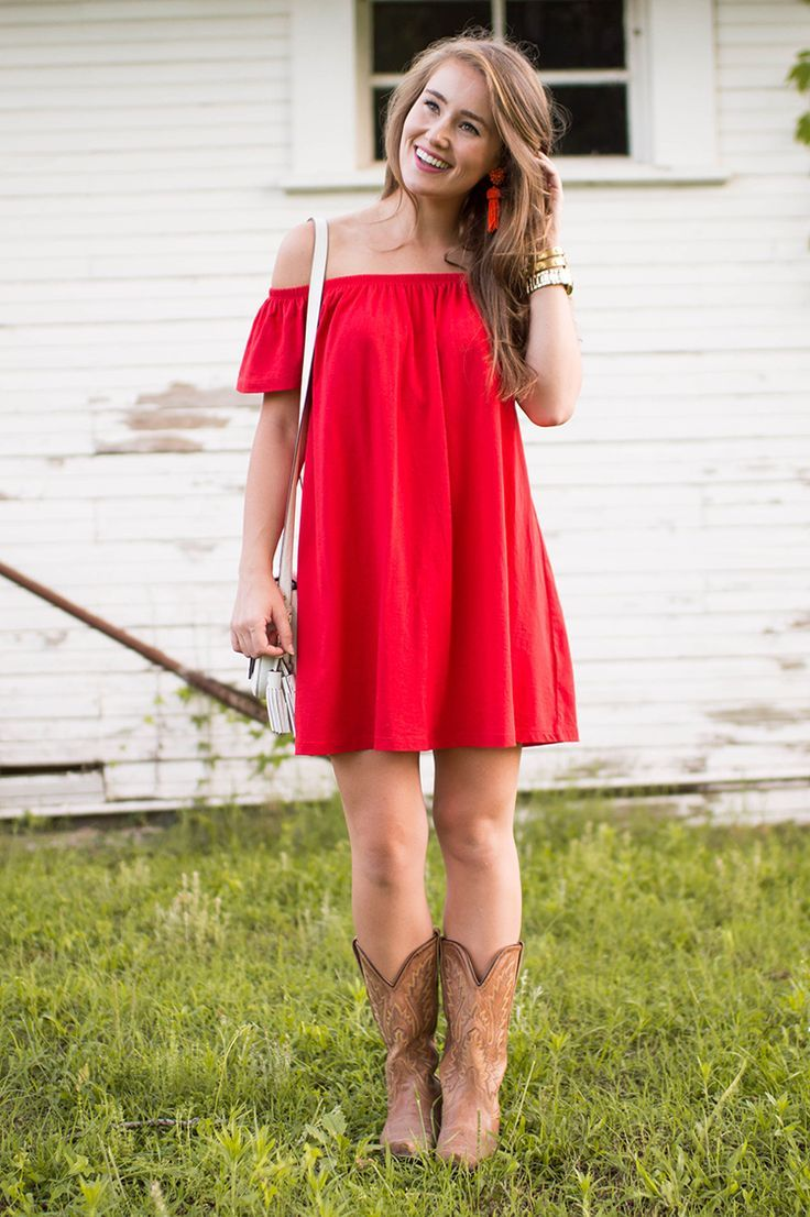 Red Off the Shoulder Sundress | how to style an off the shoulder dress | how to wear an off the shoulder dress | summer fashion | summer style | fashion for summer | style ideas for summer | warm weather fashion | fashion tips for summer || a lonestar state of southern