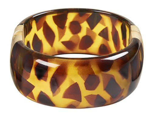 "Bracelet Tortoiseshell Hinged Bracelet Kenneth Jay Lane Costume Fashion Jewelry Tortoise Shell. Kenneth Jay Lane resin tortoiseshell hinged cuff. 2.25"" wide, 2.5"" diameter. Tortoise Shell goes with everything. A great all purpose bracelet. Costume Jewelry. By the master costume jewelry maker, Kenneth Jay Lane. Kenneth Jay Lane jewelry has been worn by celebs from Jackie O, Audrey Hepburn and Sarah Jessica Parker to Lady Gaga."