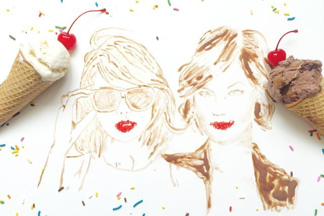 Celebrate National Friendship Day With This Stunning Edible Art #refinery29  http://www.refinery29.com/best-food-pairings#slide-2  Taylor Swift & Karlie Kloss + Chocolate & Vanilla Ice CreamThese real life besties slay, even when they're made out of chocolate and vanilla ice cream....