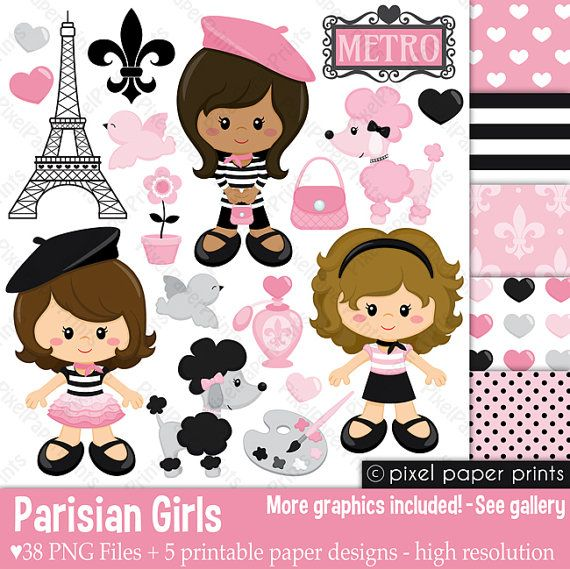 He encontrado este interesante anuncio de Etsy en https://www.etsy.com/es/listing/225789150/parisian-girls-clip-art-and-digital