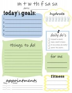 Free Printable – Daily To Do List