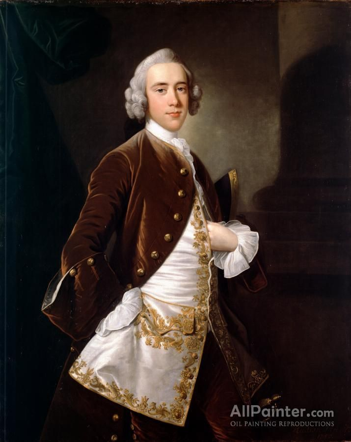 Thomas Hudson,Portrait Of A Man oil painting reproductions for sale