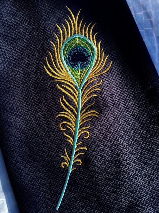 Machine Embroidery Design Peacock feather