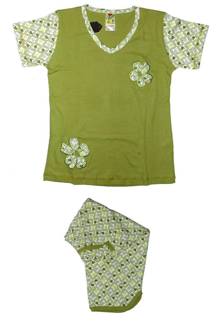 Пижама фисташкового цвета