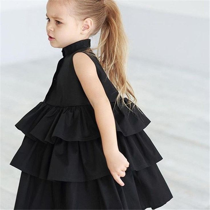 Newborn Kid Baby Girls Party Dress Sleeveless O Neck Ruffled Bubble Dr – boo.b…