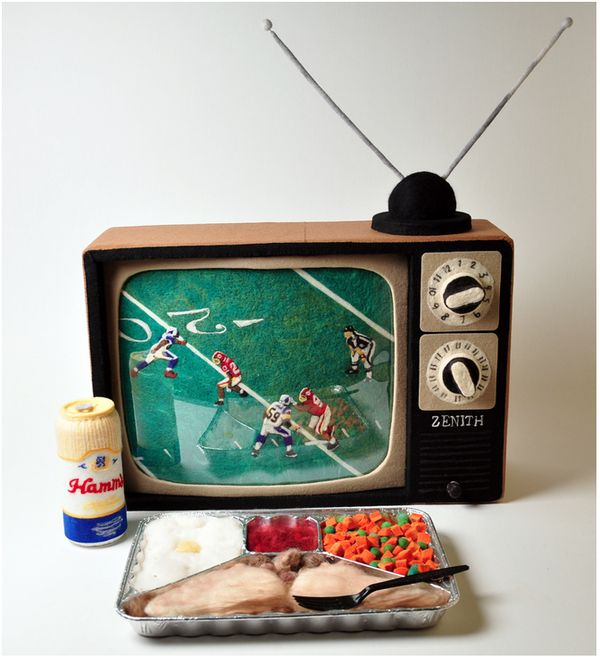A Felted TV Dinner