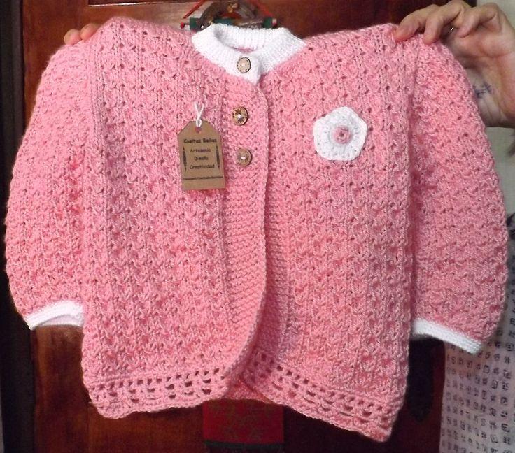 Chaleco de hilo para niña de 6 meses. Cositas Bellas #cositasbellasvalpo