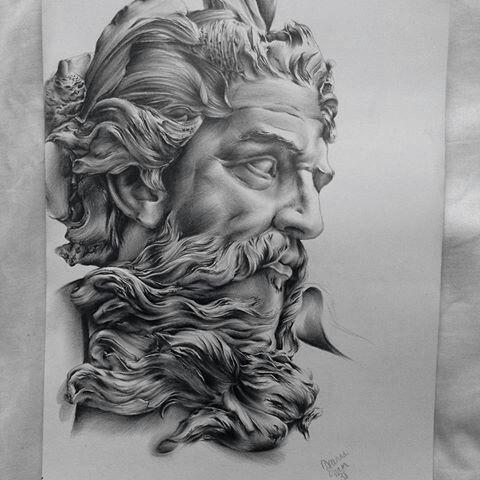 Zeus Tattoo Inkstylemag Griechisches Tattoo 4