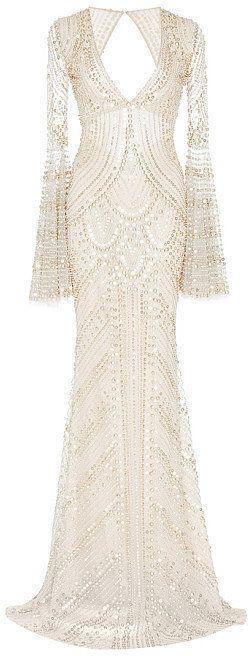 Naeem Khan Metallic Beaded V-Front Gown ($10,990)