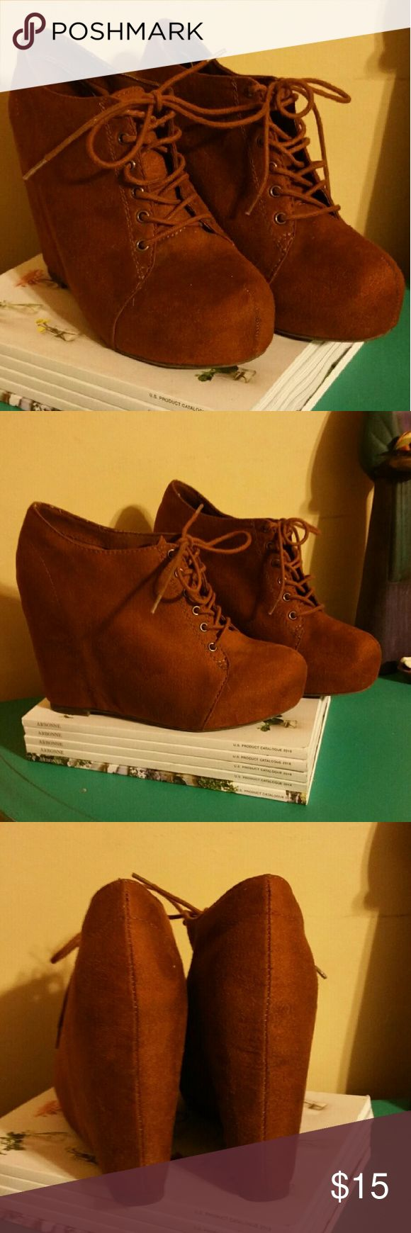 Brown Bootie Boot Super cute Brown bootie boot.  Great condition. Shoes Ankle Boots & Booties