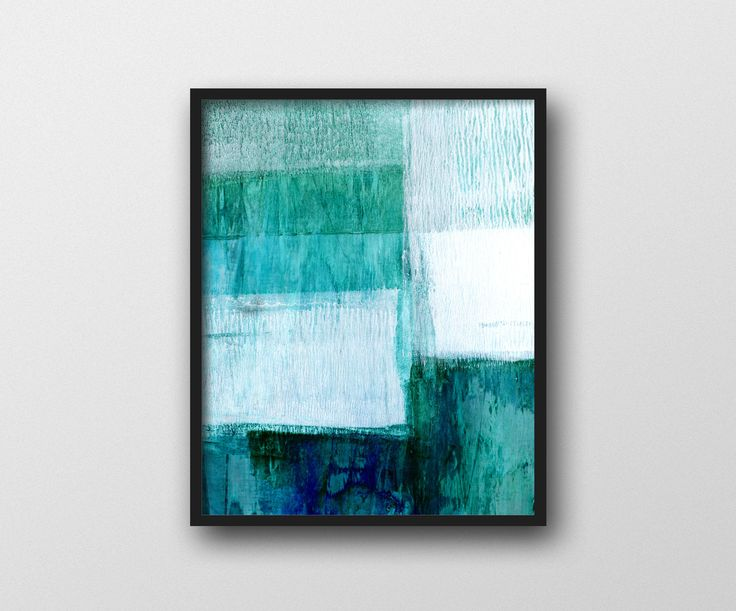 Turquoise Art, Aqua Blue Print, Geometric Art, Printable Art, Abstract Art, Coastal Decor, Scandinavian Print, Modern Art, Digital Download by MinimalInstant on Etsy