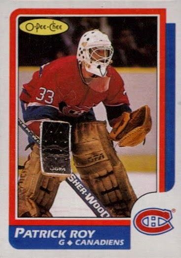 patrick roy montreal canadiens o-pee-chee rookie card