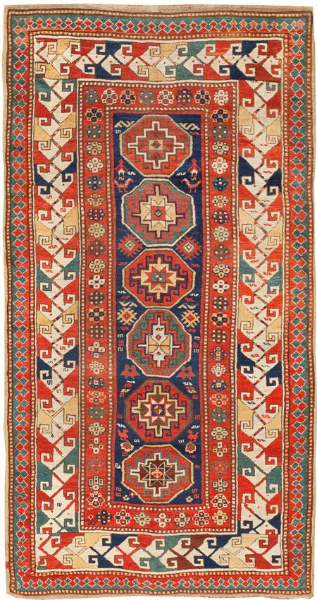 Antique Kazak Caucasian Rug 45173 Main Image - By Nazmiyal