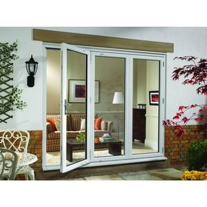 Wickes uPVC External Folding & Sliding Patio Door White 8ft Wide Right Opening
