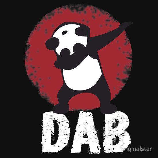 DAB PANDA keep calm and dab dabber dance football touch down | Unisex T-Shirt | Chanelle | Panda, Mini messenger bag, Shirts