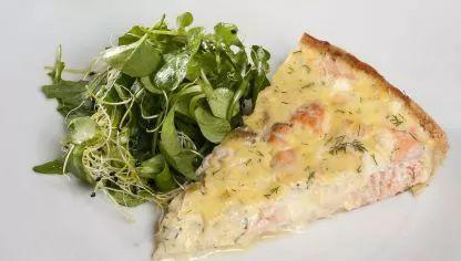 Receta de Tarta de salmón y eneldo
