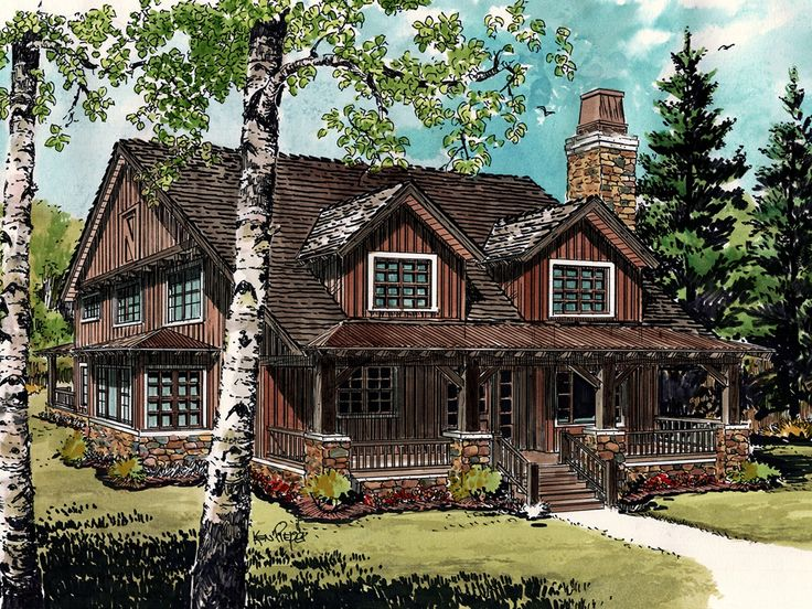 17 Best Images About Mountain House Plans On Pinterest