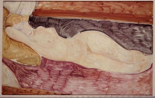 Amedeo Modigliani - Nudo sdraiato