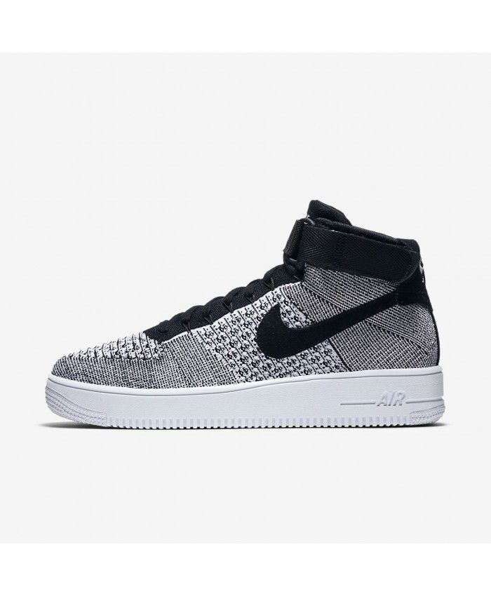 Best Drop Shipping Nike Air Force 1 Flyknit Couple Skateboard shoes Gray black[817419-006]
