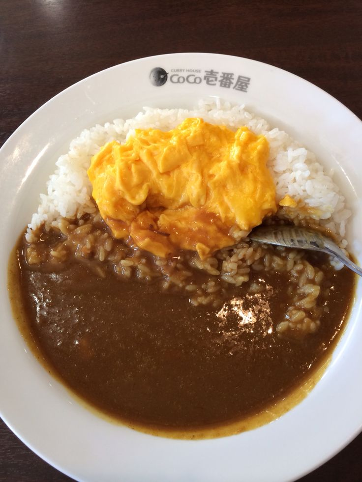 Simple egg curry rice - Coco Ichibanya