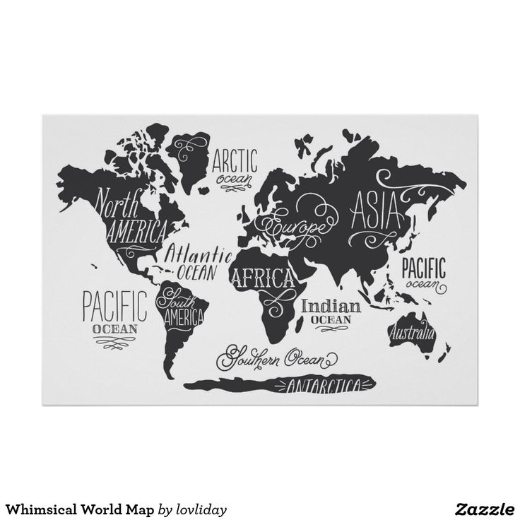 Whimsical World Map Poster 11 best Map