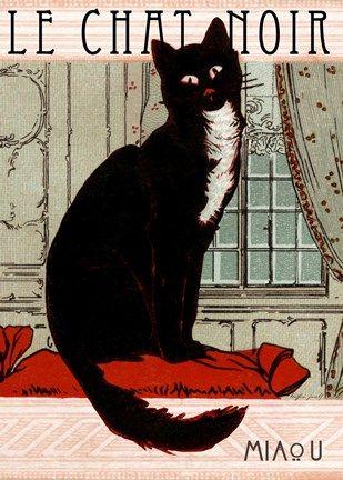 Framed Le Chat Noir 1 Print