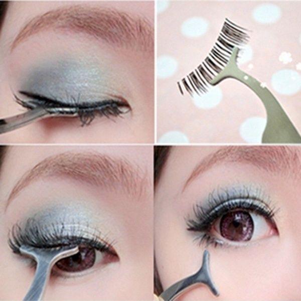 1pcs False Fake Eyelashes Clip Stainless Steel Eye Lash