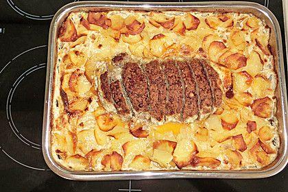 Hackbraten mit Kartoffeln in Sahne 10