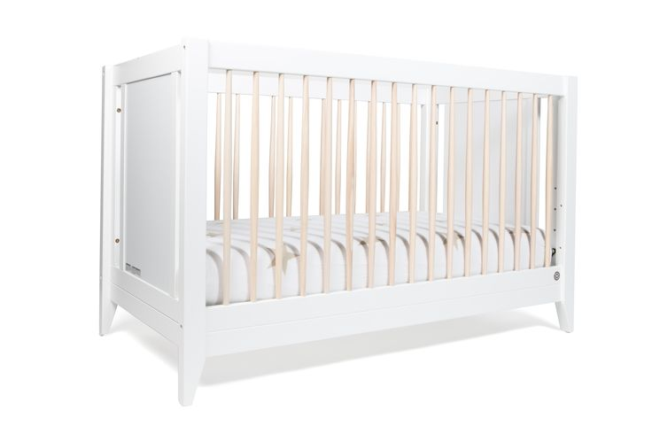 Honest 4-in-1 Convertible Crib with Toddler Rail #nontoxic #sustainable #buyonegiveone #TinyFirstMate #DreamTeam #PinToWin